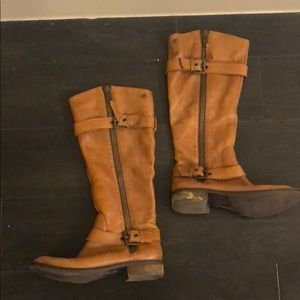 Steve Madden riding boots leather